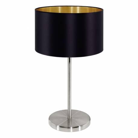 Настолна лампа 1хE27 никел-мат/черно-златно MASERLO