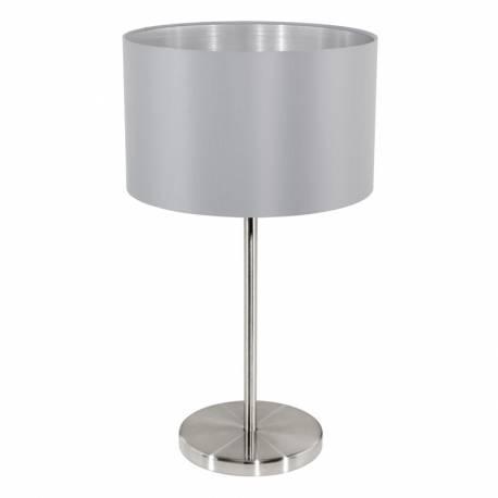 Настолна лампа 1хE27 никел-мат/сиво-сребро MASERLO