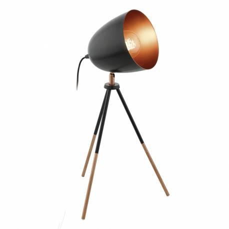 Настолна лампа 1хE27 черно/медно CHESTER