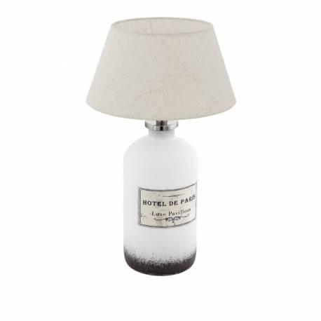 Настолна лампа 1хE27 бутилка бяло/крем ROSEDDAL