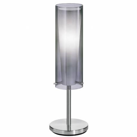 Настолна лампа 1хЕ27 никел-мат/чер.оп.цил.+бяло ст. PINTO NERO