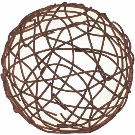 Настолна лампа 1хЕ14 топка Ø150 оплетка т.кафяво NAMBIA