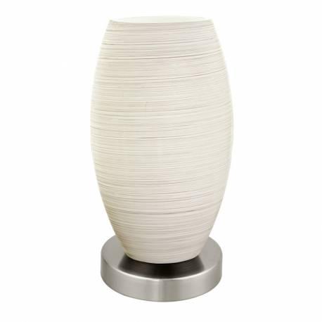 Настолна лампа LED 1хE27 7W никел-мат/бяло BATISTA 3