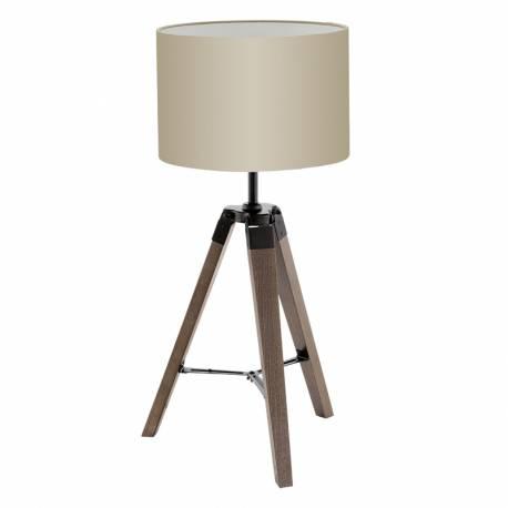 Настолна лампа 1хЕ27 дърво,орех/черно/сиво-кафяво LANTADA