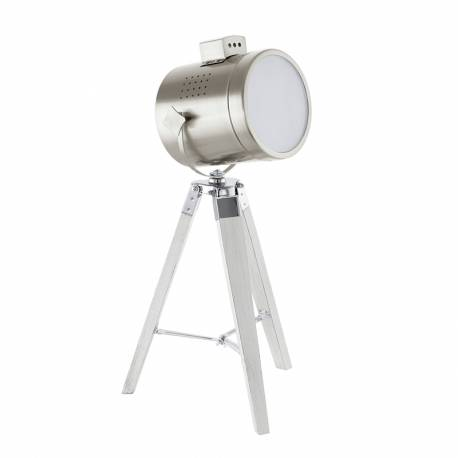Настолна лампа 1хЕ27 прож. бяло-патиНастолна лампа крака/никел-мат UPSTREET