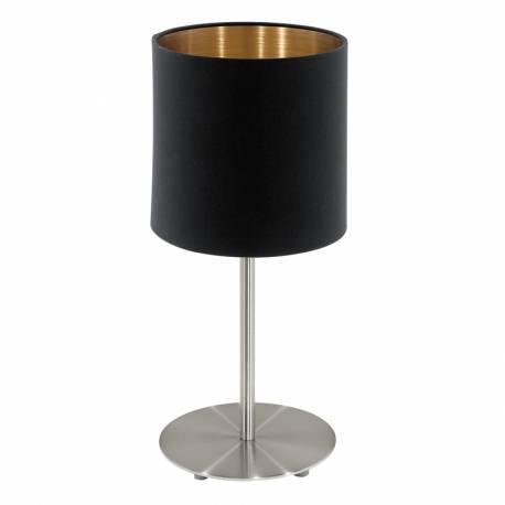 Настолна лампа 1хЕ27 никел-мат/черно-мед PASTERI
