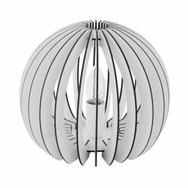 Настолна лампа 1хE27 ребра бяло Ф260 COSSANO