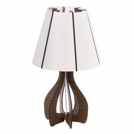 Настолна лампа 1хE27 ребра т.кафяво /кон.аб. COSSANO