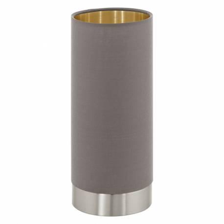 Настолна лампа 1хЕ27 тъч никел-мат/капучино-златно PASTERI