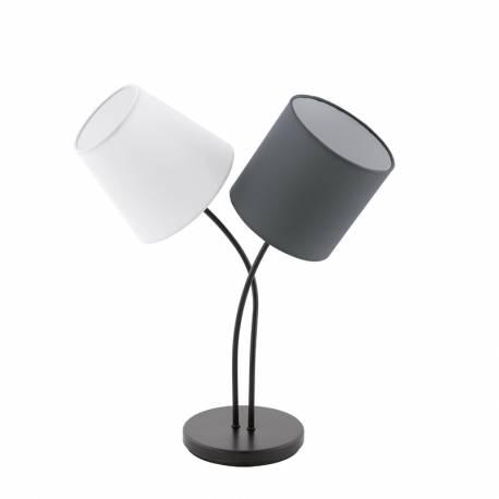 Настолна лампа 2хE14 черно/разл.абажури ALMEIDA