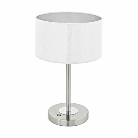 Настолна лампа LED 12W 1020lm никел мат/бяло ROMAO 1