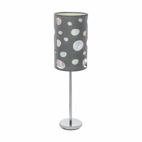 Настолна лампа 1хE27 хром/сиво MONEDA