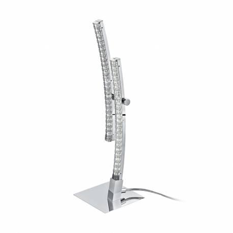 Настолна лампа LED 2x4,2W 2x500lm хром/прозр. PERTINI