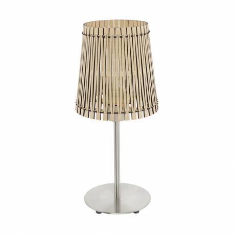 Настолна лампа 1хE27 никел-мат/явор SENDERO