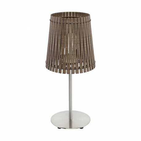 Настолна лампа 1хE27 никел-мат/тъмнокаф. SENDERO