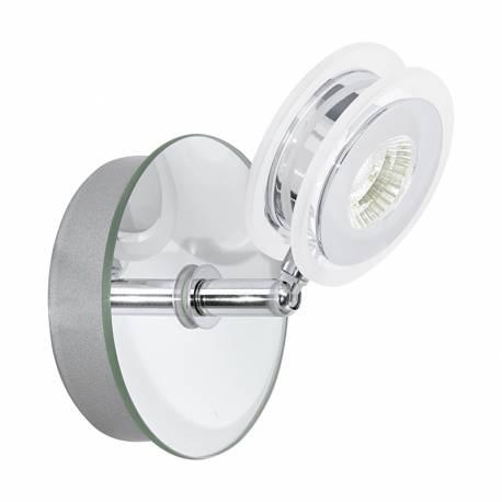 СПОТ LED 1x3,3W 340lm IP44 хром/прозрачно кр. AGUEDA