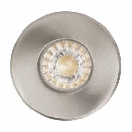 СПОТ LED 1xGU10 3,3W 240lm IP44 луна за вграждане. Ø85 никел-мат IGOA
