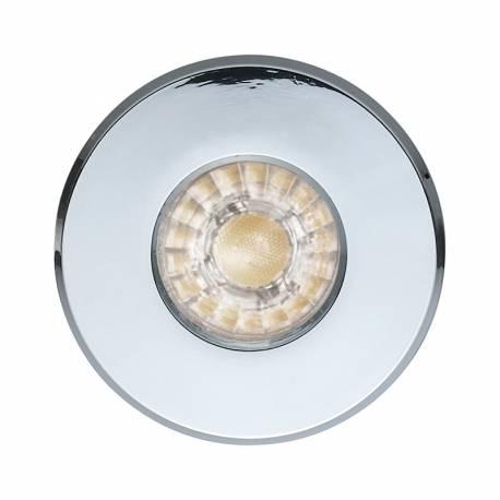 СПОТ LED 1xGU10 3,3W 240lm IP44 луна за вграждане. Ø85 хром IGOA