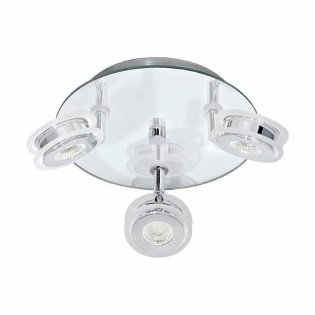 СПОТ LED 3x3,3W 3х340lm IP44 хром/прозрачно кр. AGUEDA