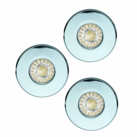СПОТ LED K-T 3xGU10 3,3W 240lm луна за вграждане. Ø85 IP44 хром IGOA