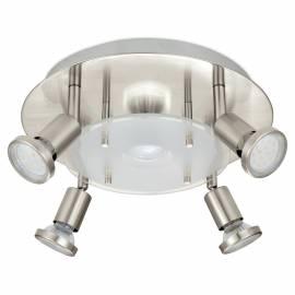 СПОТ ПЛ LED 4+1хGU10 3W Ø290  никел-мат /сат. PAWEDO