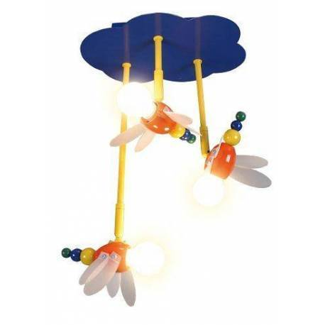 Детска лампа Пчели, 3xE14, 40 см