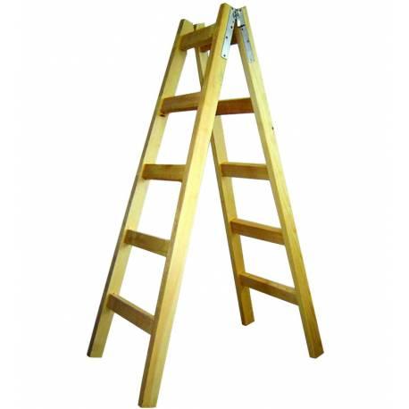 Дървена стълба 2 х 5 стъпала