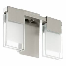 Imagén: Стенен аплик LED 2х5,8W никел-мат /прозр.-сат. CLAP 1