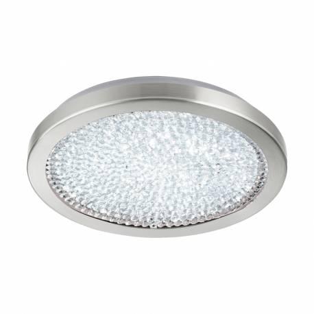 Аплик/Плафон LED 17,92W 2300lm Ø345, сат.никел/кристал, прозр. AREZZO 2