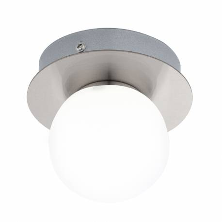 Аплик/Плафон LED 1х3,3W 340lm IP44 никел-мат/бяло MOSIANO