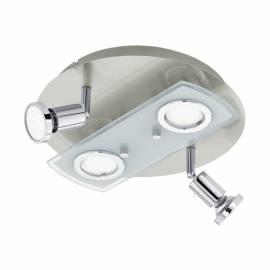 Плафон/Аплик LED 2+2xGU10 сат.никел/хром PAWEDO 1
