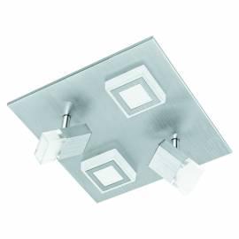 Плафон/Аплик LED 2х3,3W 640lm+2x5,4W драскан алум./сат. MASIANO