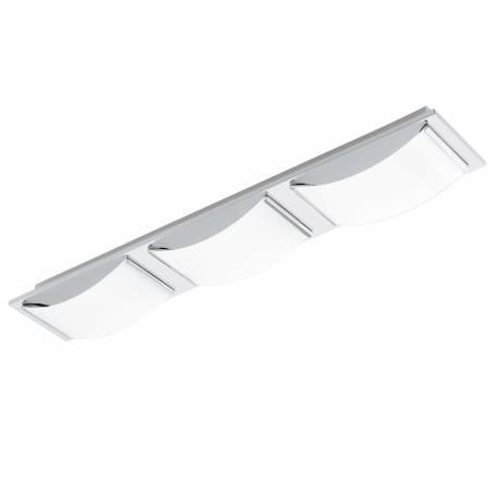 Плафон/Аплик LED 3х5,4W 1530lm хром/бяло WASAO