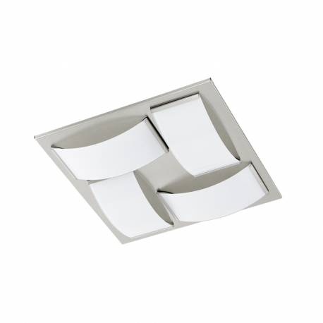 Плафон/Аплик LED 4x5,4W 4x510lm никел мат/бяло WASAO 1
