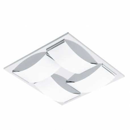 Плафон/Аплик LED 4х5,4W 2040lm хром/бяло WASAO