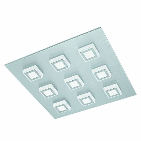 Плафон/Аплик LED 9х3,3W 3060lm драскан алум./сат. MASIANO