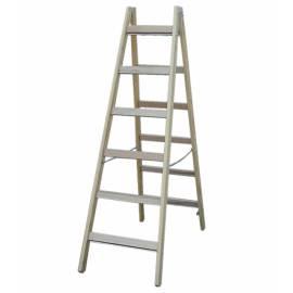 Дървена стълба Stabilomat Safemat, 2х6 стъпала