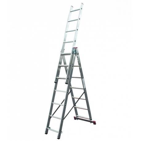 Алуминиева стълба Stabilomat Safemat, 3х7 стъпала