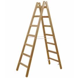 Дървена стълба Stabilomat Safemat, 2х7 стъпала