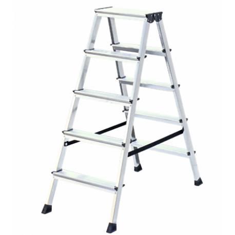 Алуминиева стълба Stabilomat Safemat, 2х5 стъпала