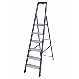 Алуминиева стълба Stabilomat Safemat, 6 стъпала