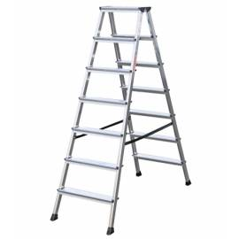 Алуминиева стълба Stabilomat Safemat, 2х7 стъпала