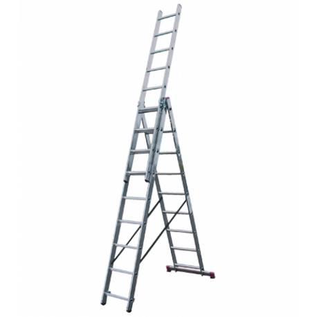 Алуминиева стълба Stabilomat Safemat, 3х9 стъпала