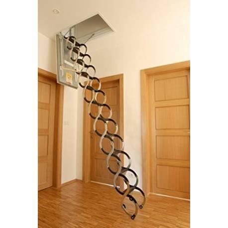 Метална таванска стълба - 90 X 70 см, h-3.2м, тип хармоника