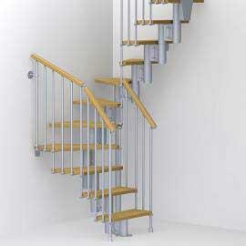 Imagén: Вита стълба с 12 стъпала, метал-сив и дърво-цвят-круша