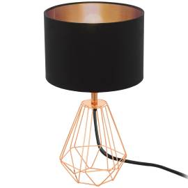 Настолна лампа 1хE14 медно/черно-медно CARLTON 2