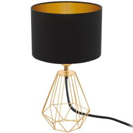 Настолна лампа 1хE14 месинг/черно-златно CARLTON 2