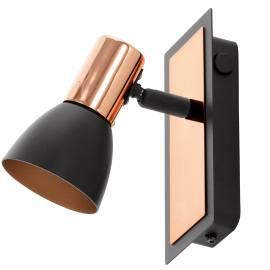 Imagén: СПОТ LED 1хGU10 3,3W 240lm с ключ .черно/мед BARNHAM