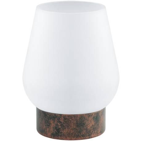 Настолна лампа 1хE14 медно-антик/сат. DAMASCO 1