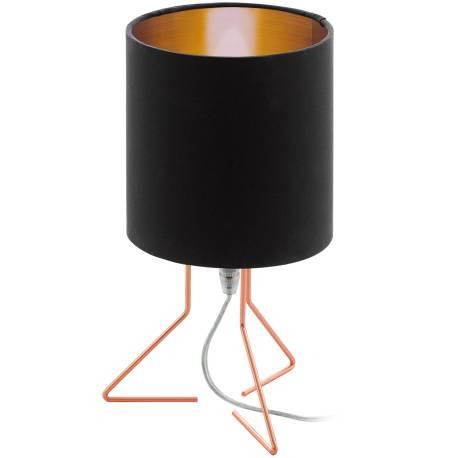 Настолна лампа 1хE14 медно/черно-медно NAMBIA 1